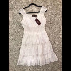 Flattering White Boho Dress *NWT*